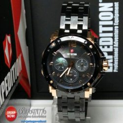 jam tangan expedition e6402BF black rose