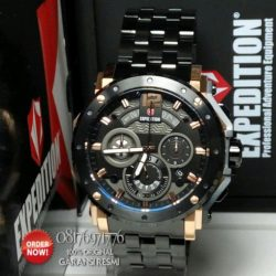 jual jam expedition e6402mc black rose