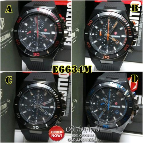 jual jam tangan expedition e6634 original