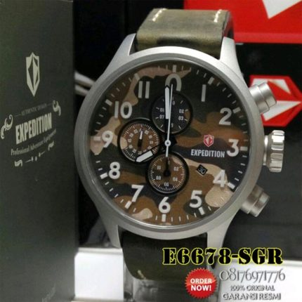 jam tangan loreng expedition e6678 asli original