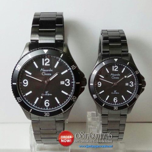 jam couple rantai alexandre christie ac5011
