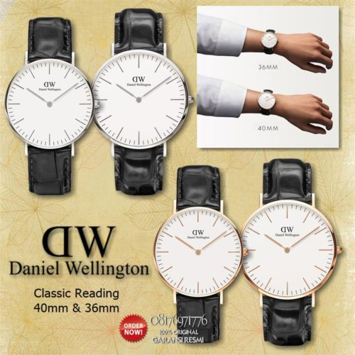 jual jam dw couple original reading