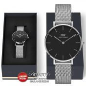 jual jam dw original petite sterling black